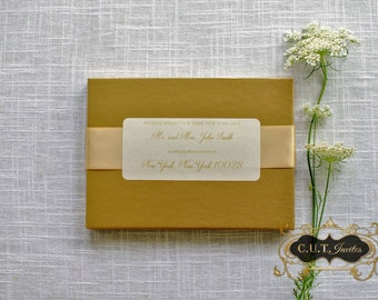 Gold Luxury Boxed Wedding and Event Invitation - Couture