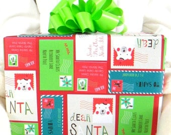 Nordic sweater christmas wrapping paper red background with for 3 foot cardboard letters