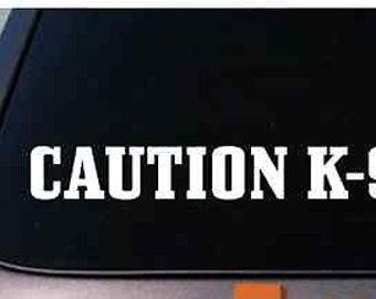 """K9 Decal Guard Dog Police Schutzhund 6"""" Malinois"""