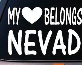 My Heart Belongs To Nevada Sticker Decal *E023*