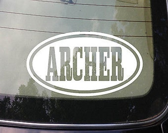 "Archer Sticker Decal Bowhunting Deer Hunting Whitetail Arrow Bow 6"" Decal *C700*"