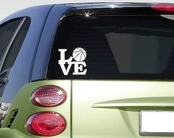 """Basketball Love 6"""" Sticker *F266* Decal Car Decal Dunk March Madness Shorts"""