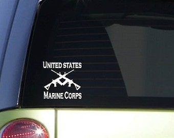 """Usmc 6"""" Sticker *F108* Decal Police Miltary Army Navy Marines Air Force"""