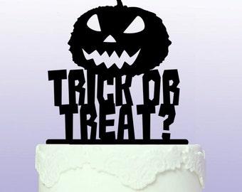 Personalised Trick or Treat Pumpkin Cake Topper