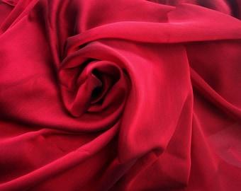 Red Japanese Silk Chiffon. 3 metres/ 3.3 yards