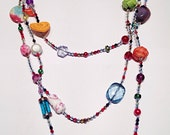 Multistranded, Multicoloured, Handmade Necklace