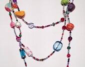 Multistranded, Multicoloured, Handmade Necklace