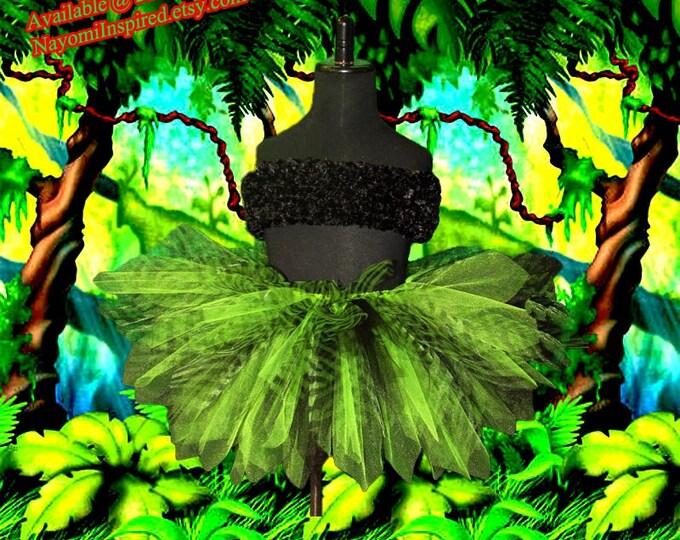 Jungle Apple Green Zebra Tutu