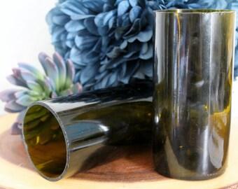 Wine bottle glasses, Set of two, Monogrammed glasses