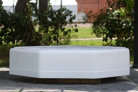 Refinished vintage 1962 square deep soak cast iron by for Deep alcove bathtubs