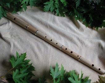 Rudall & Rose 5501 based transverse flute, keyless model for Irish music.