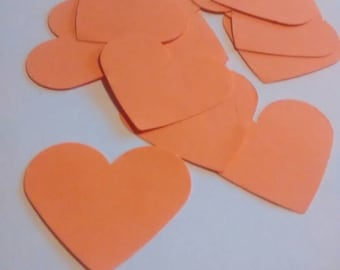 20 Orange hearts, confetti, confetti, wedding, baby, parties