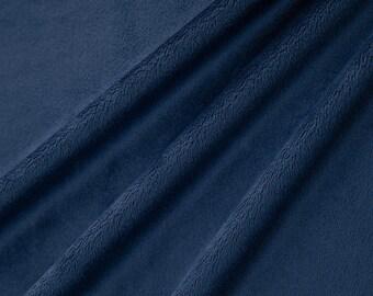 Navy Minky Fabric, Shannon Fabrics, per Yard