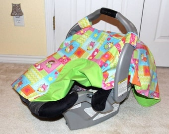 Fairy Patchwork - Car Seat Canopy