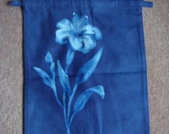 Large Flat Drawstring Bag