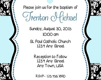 Mickey Mouse Baptism Invitation