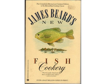FREE SHIPPING within the U.S. ~ James Beard's New Fish Cookery ~ Cookbook ~ Softcover ~ 1987 Edition ~ Freshwater/Saltwater/Shellfish