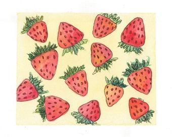 Summer Strawberries Print