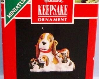 1991 Lulu and Family Hallmark Miniature Ornament