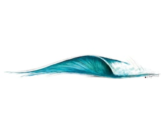 "Printable Surf Art ""6ft. Peak"" Wave (22"" x 11"")"