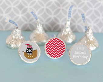 Hershey Kiss Labels-Birthday Party Favor-Stickers for Candy Kisses-Personalized Hershey Kiss Favor Labels (set of 108)