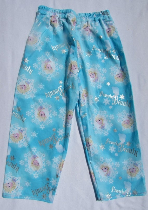 Elsa pajama cotton pants / elastic waste / size 6 mon. to 14 children