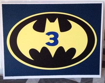 Customized Batman birthday card
