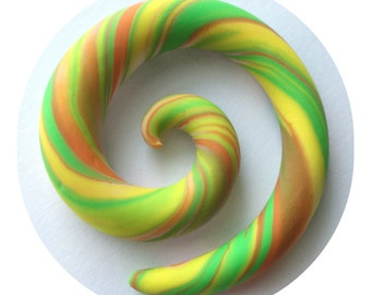 SALE! 8mm (0g) Bright Spirals for Stretched Ears