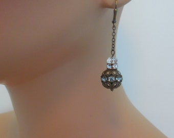 Antiqued Dangle Earrings