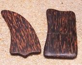 Gua Sha Massage Board Palm Wood Wooden Massage Tool Set of 2