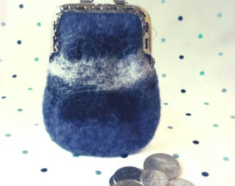 Coin purse, felted wool