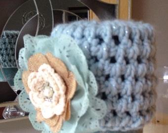 Baby Blue Crochet Girls Hat 0-6 months