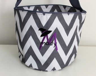 Trick or Treat Halloween Bag, Trick or Treat Basket, Trick or Treat Basket, Halloween Bag, Embroidered Trick or Treat