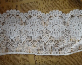 Lace trim, white cotton lace ,beige Cotton lace Trim solubility lace Lace Trim Floral Lace