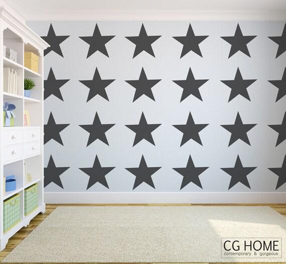 MEGA STAR stars 19 inches Star Pattern Stars Wall Decal vinyl sticker CGhome