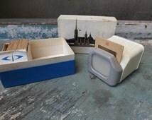 Vintage Diascop Set of 20 Leningrad city Slides 35mm Diapositives, Plastic Vintage Finds Diascope