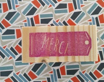 """Buffer label """"Thank you"""" - Rubberstamp tag with message """"Thank you"""""""
