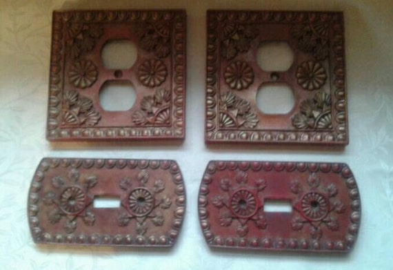 Vintage resin art deco design switch plates by sweetkarolineglass - Art deco switch plate covers ...