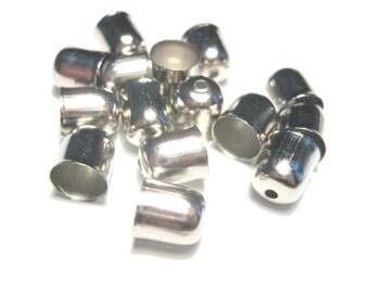 20pcs Silver Tone End Tip Bead Caps Tassel caps 8x7mm( No.692)