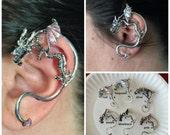 DRAGON EAR CUFF for Pierced Left Ear Game of Thrones Inspired Punk Goth Rocker