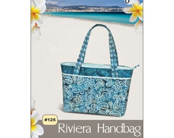 Pattern - Riviera Handbag by Pink Sand Beach Designs (PSB125) Paper instructions leaflet tote bag