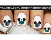 Buy 2 Get 1 Free-180 Decals Total-60 Nail Decals Per Set - Mickey Minnie Head Ears - HAUNTED MANSION - Halloween Disney- Nail Art