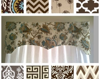 Curtains Ideas brown valance curtains : Turquoise valance | Etsy