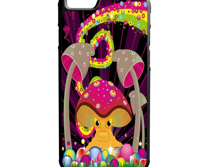 Psychedelic Mushrooms iPhone Galaxy Note LG HTC Hybrid Rubber Protective Case Trippy