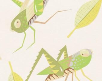 Monkey's Bizness - The Hoppers in Natural Green - Alexander Henry (8293B)