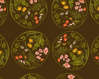 Tiger Lily - Wreaths Brown - Heather Ross - Windham (40928-3)