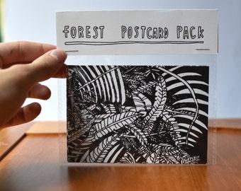 Forest Illustration Postcards