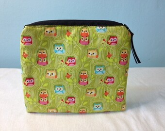 Small Zippered Pouch Cosmetic Bag Holiday Purse
