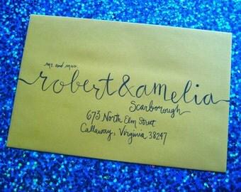 Modern Envelope Calligraphy / Wedding Invitation Addressing / hand calligraphy for invitations / envelope script lettering