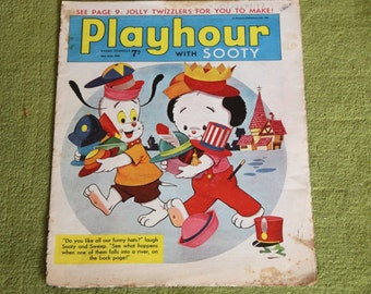 Gorgeous Vintage Sooty Newspaper Comic 18th June 1966
